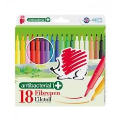 """Filctoll készlet, 1 mm, antibakteriális, ICO """"Süni 300"""", 18 különböző szín"""