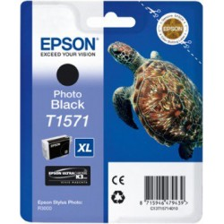 Epson T1571 Patron Black 26ml (Eredeti) Stylus Photo R3000