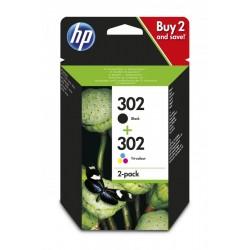 HP X4D37AE Patron 2 pack Bk+Col No.302 (Eredeti)