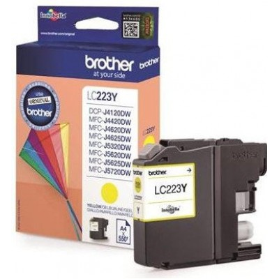 Brother LC223Y tintapatron Yellow  (Eredeti)