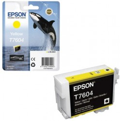 Epson T7604 Patron Yellow 26ml (Eredeti)
