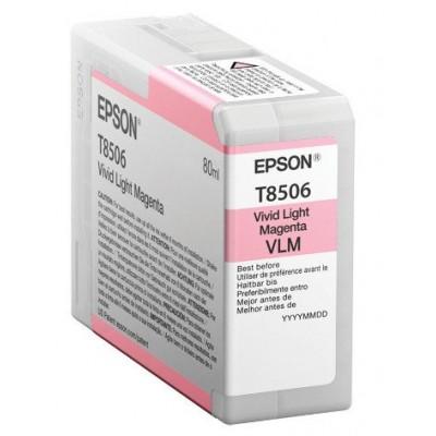 Epson T8506 Patron Light Magenta  80 ml /original/