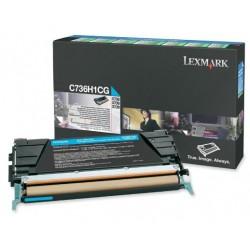 Lexmark C736,X736,738 toner cyan(Eredeti) C736H1CG