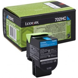 Lexmark 70C2HC0 (702HC) toner Cyan 3K (Eredeti) CS310/410