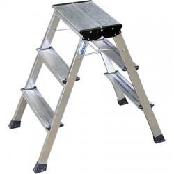 """Fellépő, gurítható lépcsőfokos, 2x3 lépcsőfok, alumínium KRAUSE """"Rolly"""""""