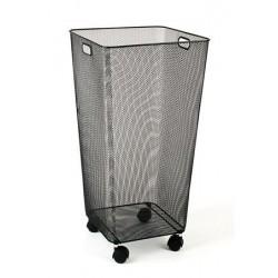 Szennyestartó, fémhálós, 33x33x66,5 cm, VICTORIA, fekete