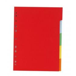 Regiszter, karton, A4, 5 részes, VICTORIA, színes